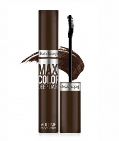 BelorDesign Тушь для ресниц объемная Maxi Color шоколадная