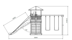 Детская деревянная игровая площадка Баунти
