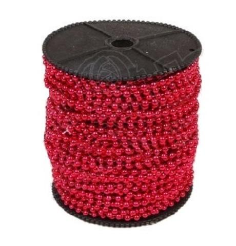 Бусы на бобине (размер: 4мм х 40м) Цвет:красный