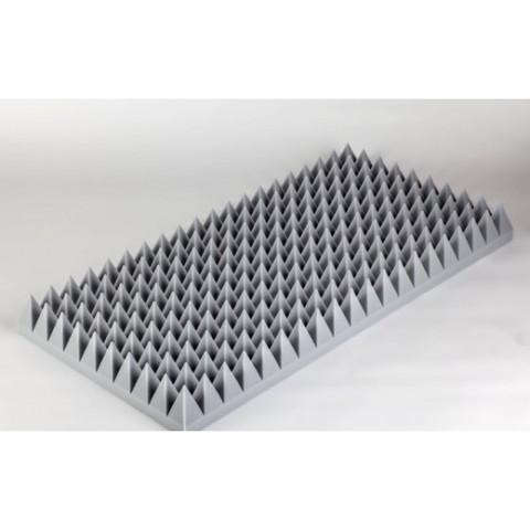 негорючая  акустическая панель  Пирамида ECHOTON FIREPROOF 100x50x10cm  из материала  BASOTECT серый