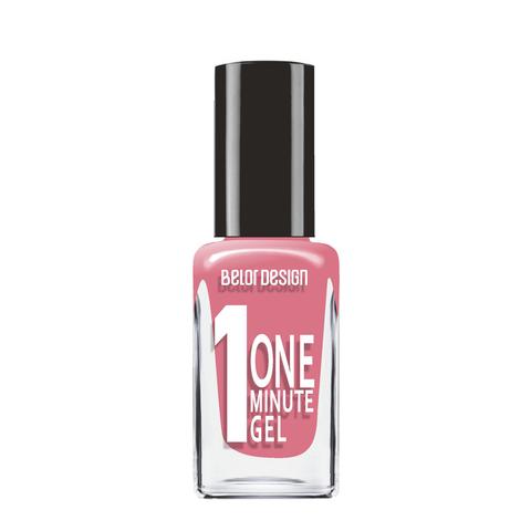 BelorDesign One Minute Gel Лак для ногтей тон 206 натуральный малиновый 10мл