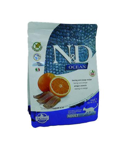 Farmina N&D cухой корм для взрослых кошек (рыба с апельсином) 300г