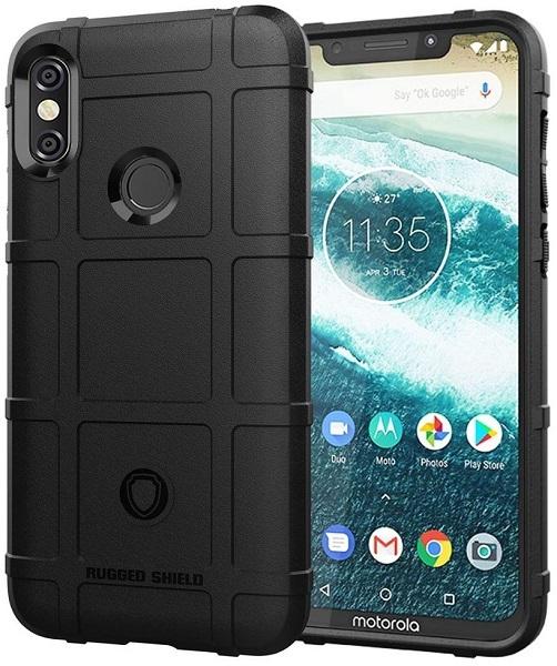 Чехол Motorola Moto One Power (P30 Note) цвет Black (черный), серия Armor, Caseport