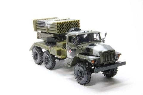 Ural-4320 BM-21 Grad camouflage Elecon 1:43