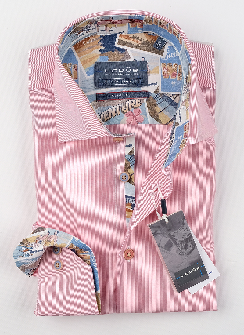 Рубашка Ledub slim fit 0138806-440-102-180