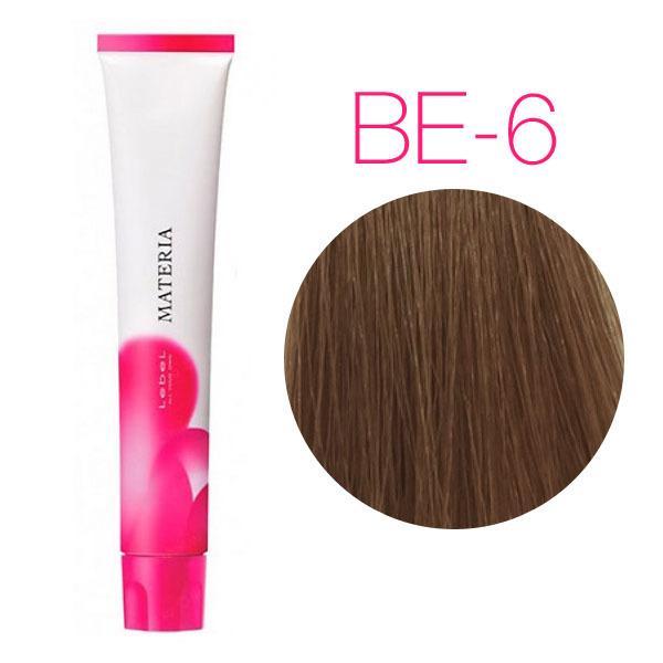 Lebel Materia 3D Be-6 (тёмный блондин бежевый) - Перманентная низкоаммичная краска для волос