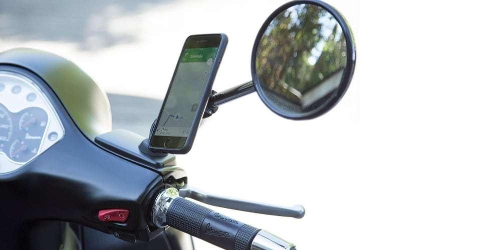 Набор креплений для смартфона на мотоцикл SP Connect Moto Mirro Bundle Universal на зеркале