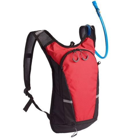 Vattern Backpack with Drinking System, black with red