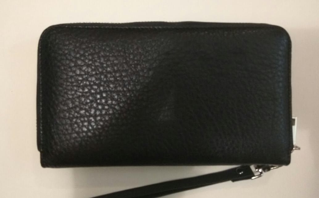 Мужской кошелек из кожи на молнии G. Ferre