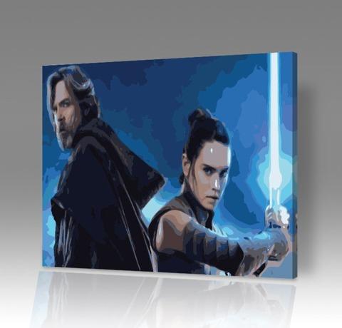 Картина по номерам на холсте Звездные войны: Последние джедаи, 40см*50см