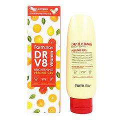 FarmStay Dr-V8 Vitamin Brightening Peeling Gel - Отшелушивающий гель с комплексом витаминов