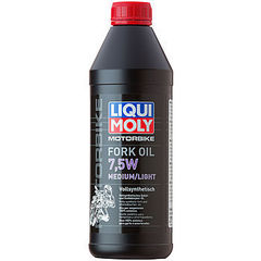 2719 LiquiMoly Синт.масло д/вилок и амортиз. Motorbike Fork Oil Medium/Light 7,5W(1л)