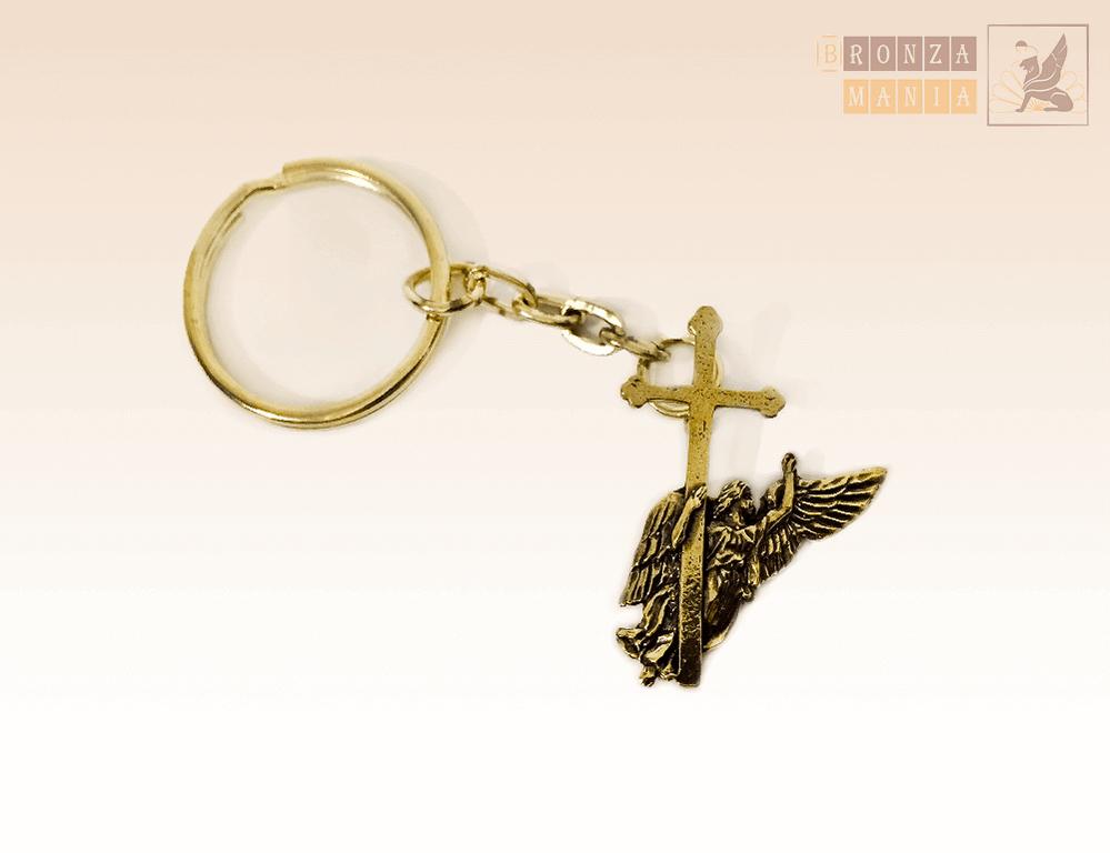 брелок Ангел с Петропавловки с крестом