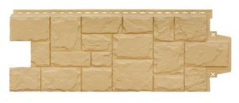 Фасадная панель Гранд Лайн Крупный камень Песочный 1102,5х417,4 мм