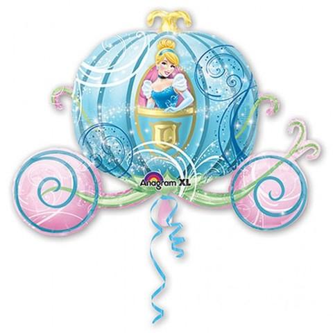 Фольгированный шар Золушка в карете