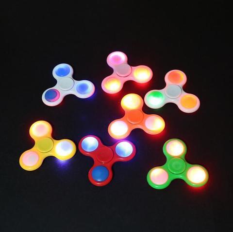 Светящийся спиннер (LED fidget spinner) - пластиковый с LED подсветкой