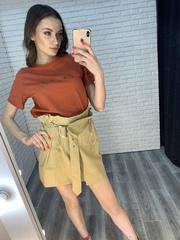 футболка кирпичного цвета nadya