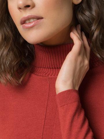 Женский джемпер оранжевого цвета из шерсти и шелка - фото 3