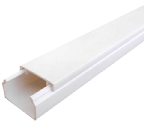 ECO 20Х10 Миниканал 20Х10 мм. 1шт=1м. Цвет Белый. Ecoplast (ЭКОПЛАСТ). 77201