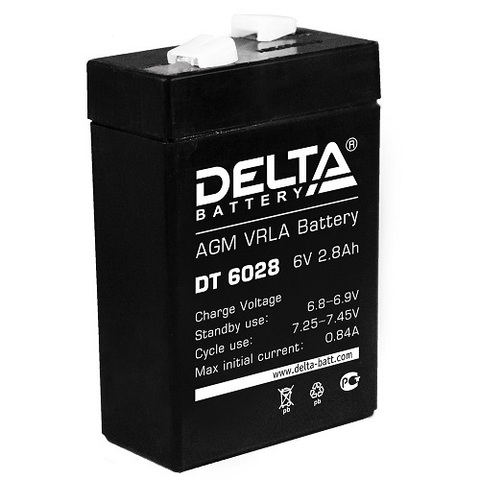DT 6028 аккумулятор 6В/2.8Ач Delta