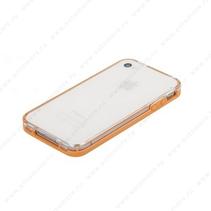 Бампер VSER для iPhone 4s/ 4 оранжевый