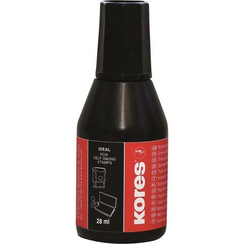 Краска штемпельная Kores черная на водно-масляной основе 28 г