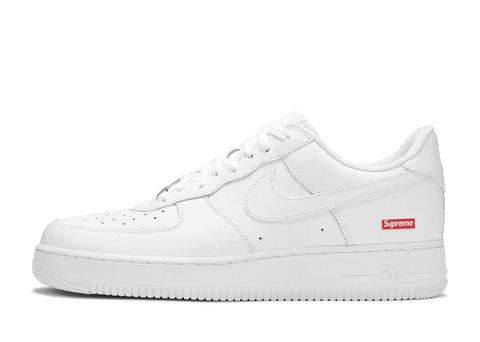 Supreme x Nike Air Force 1 Low 'Box Logo White'