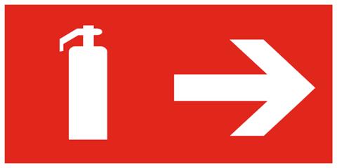 F33 комбинированный знак пожарной безопасности - пожарный знак огнетушитель направо