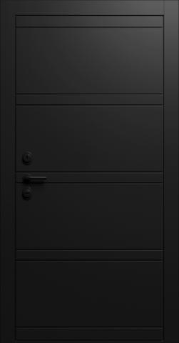 Входная дверь «Linea 2» в цвете, Эмаль черная
