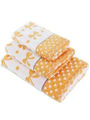 127 полотенце Бантик, оранжевое