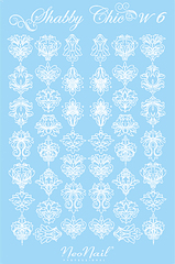 Трафарет для дизайна Shabby Chic 06 белый