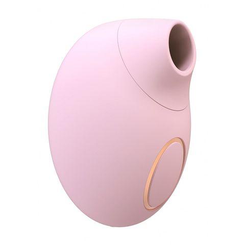 Розовый клиторальный вакуум-волновой массажер Irresistible Seductive