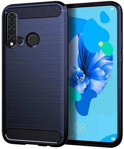 Чехол Huawei P20 Lite 2019 (Nova 5i) цвет Blue (синий), серия Carbon, Caseport