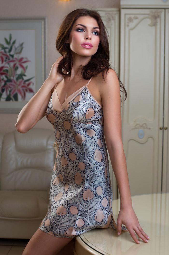 шелк натуральный Сорочка женская MIA-MIA Dior ДИОР 15081 15081.jpg