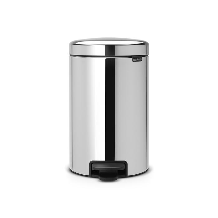 Мусорный бак newicon (12 л), металлическое внутреннее ведро, Стальной полированный, арт. 113888 - фото 1