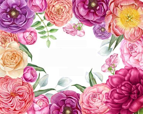 Печать на сахарной бумаге, Цветы 2