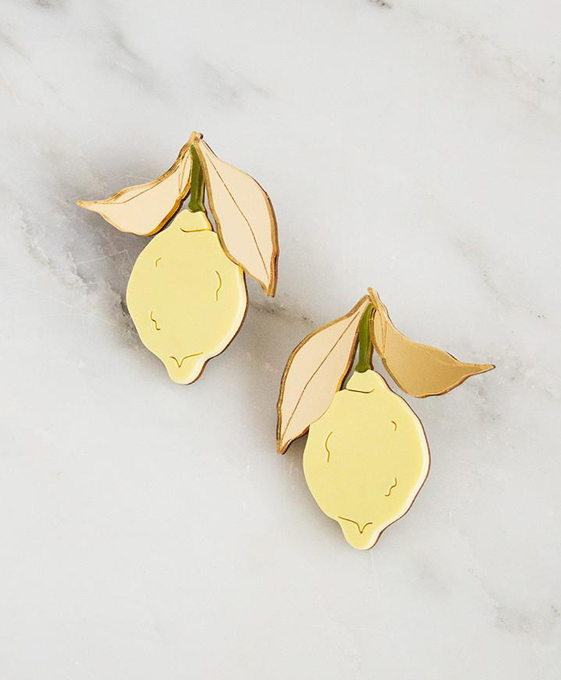 Серьги Lemon Earrings Yellow