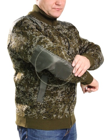 Джемпер на молнии мужской (Цифра с нашивками)