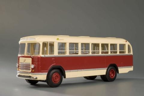 LIAZ-158V beige-burgundy Classicbus 1:43