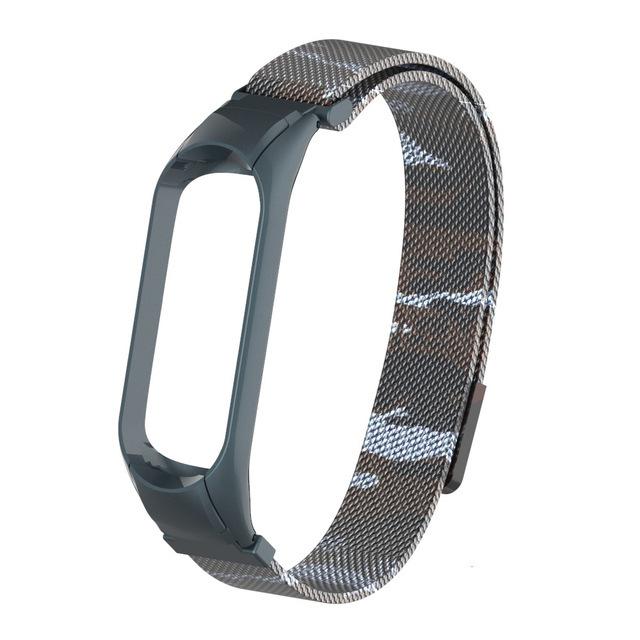 Ремешок металлический для Mi Band 4 Milano Strap с магнитной застежкой