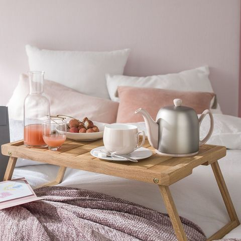 Фарфоровый заварочный чайник на 6 чашек с цинковой крышкой, розовый, артикул 236268