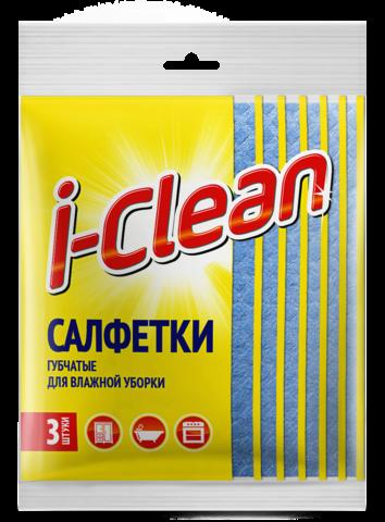 Romax i-Clean Салфетки губчатые для влажной уборки 3шт