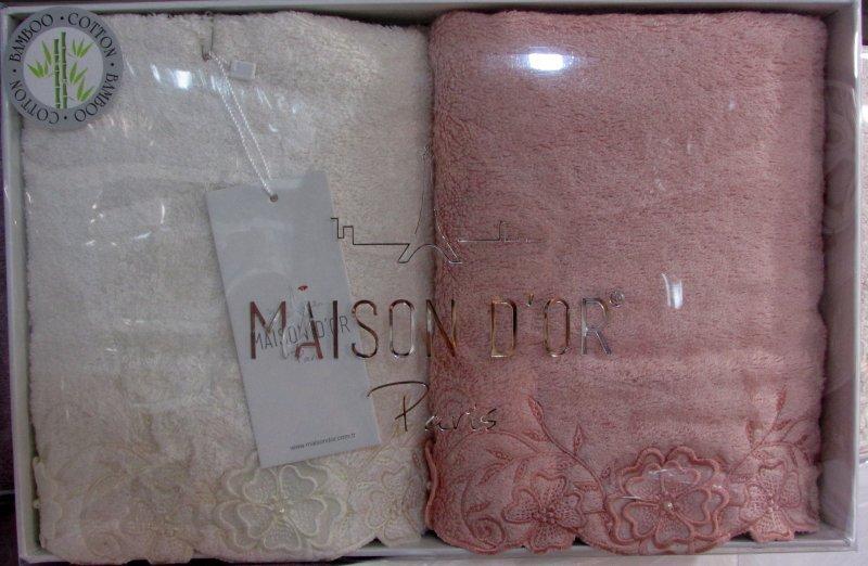 Наборы полотенец Набор полотенец  LAURETTE - ЛАУРЕТТЕ 2пр 50х100 Maison Dor (Турция) лауретте.jpg