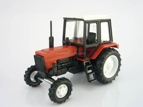Tractor MTZ-82 Belarus Fire Protection red metal 1:43 Agat Mossar Tantal