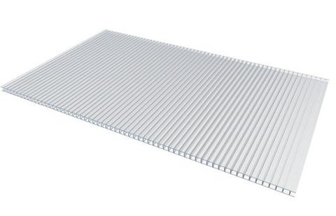 Сотовый поликарбонат 4 мм прозрачный Актуаль био 2.1х6 м