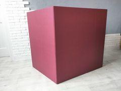 Большая коробка для шаров (бордовая) 60*80*80 см.