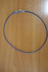 Шнурок 45 см синий