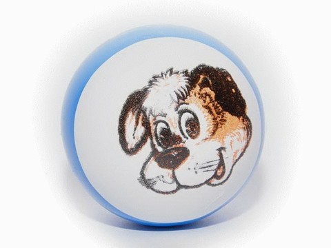 Мячик полый детский резиновый с рисунком. Диаметр 7,5 см: 103П