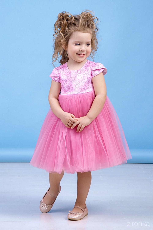 Платье розовое для девочки 38-8031-6