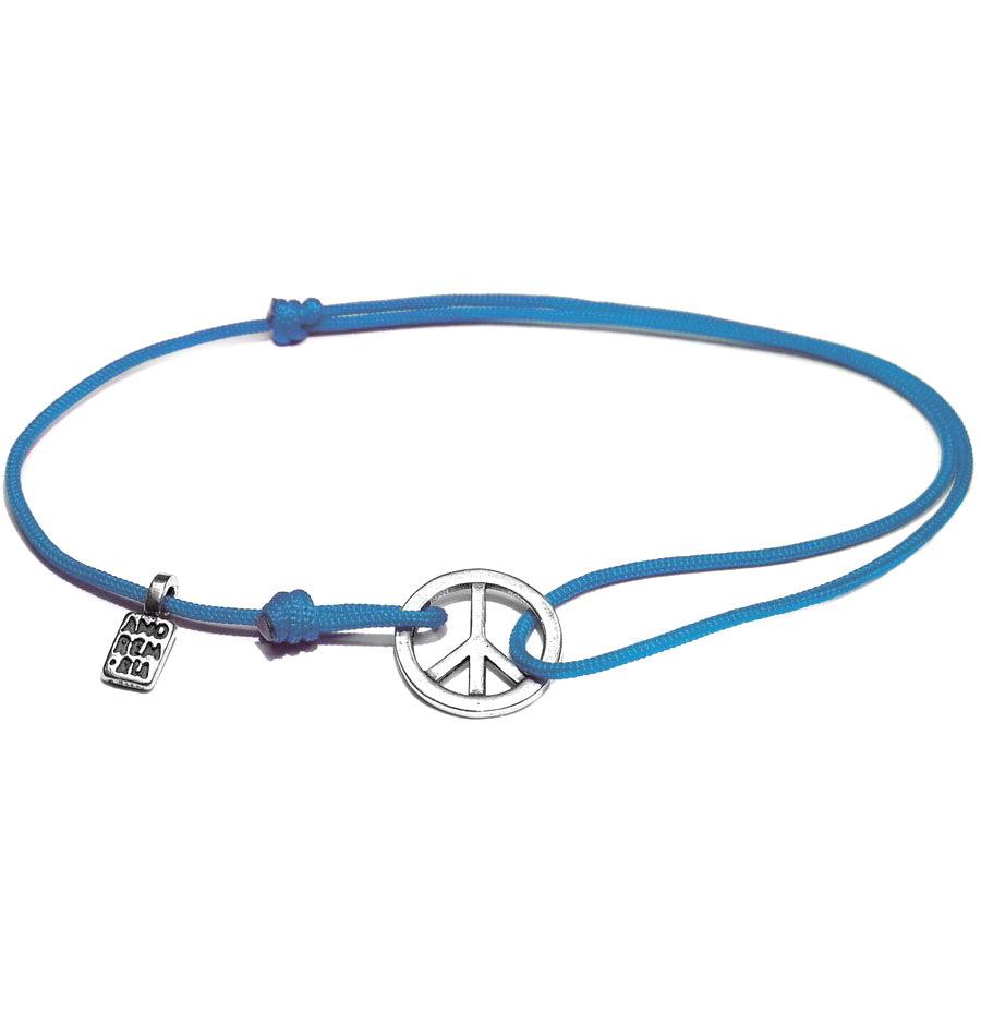 Peace Sign Bracelet, Sterling Silver